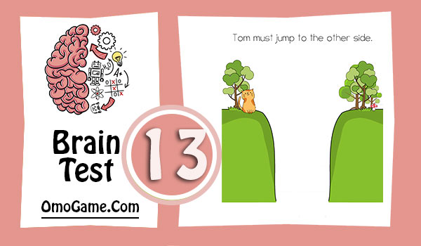 Brain Test Level 13 Tom must jump to the other
