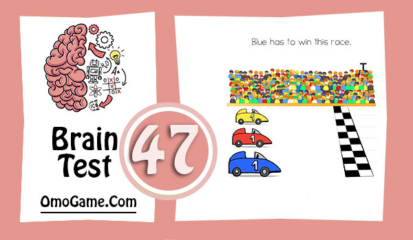 Brain Test Level 47 Blue has to win this race