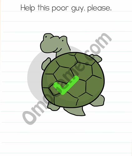 Brain Test Level 48 answer and walkthrough (Help this poor guy, please)