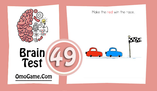 Brain Test Level 49 Make the red win the race
