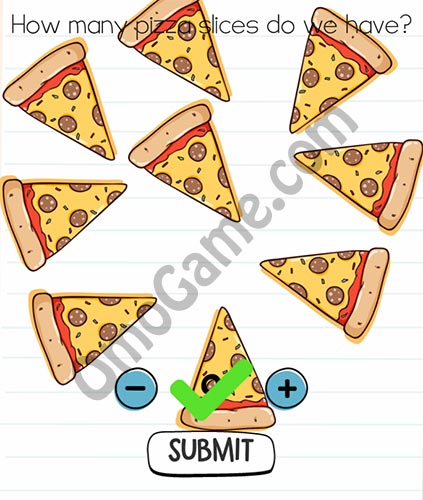 Brain Test Level 5 answer and walkthrough (How many pizza slices do we have)