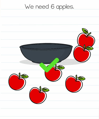 Brain Test Level 51 answer and walkthrough (We need 6 apples)