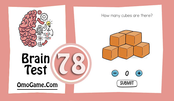 Brain Test Level 78 How many cubes are there