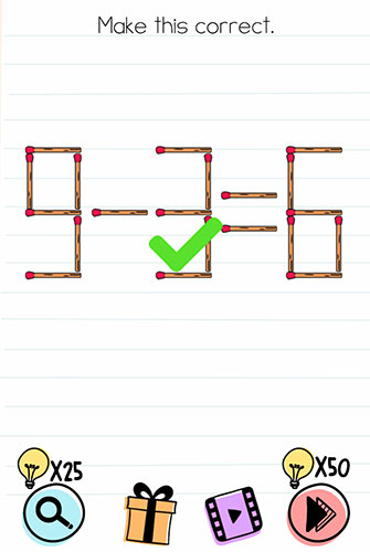 Brain Test Level 116 answer and walkthrough (Make this correct)