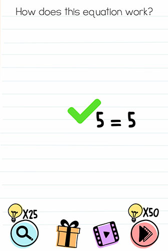 Brain Test Level 123 answer and walkthrough (How does this equation work)