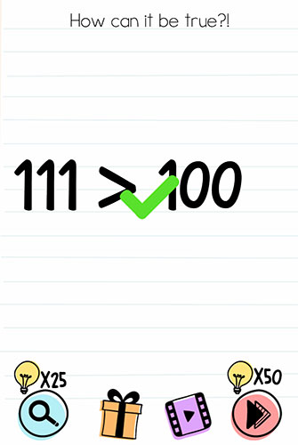 Brain Test Level 155 answer and walkthrough (How can it be true)
