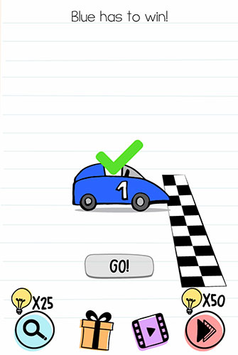 Brain Test Level 156 answer and walkthrough (Blue has to win)