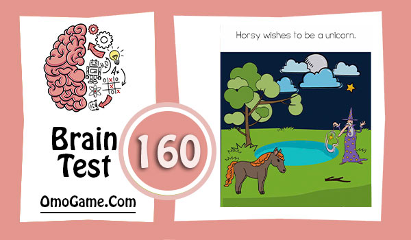 Brain Test Level 160 Horsy wishes to be a unicorn