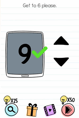 Brain Test Level 167 answer and walkthrough (Get to 6 please)