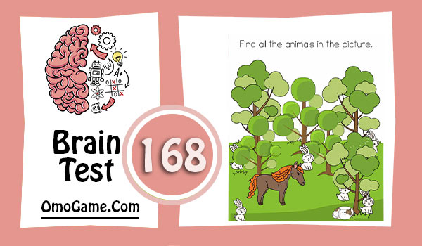 Brain Test Level 168 Find all the animals in the picture