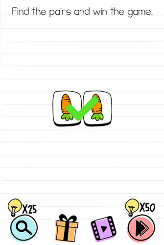 Brain Test Level 188 answer and walkthrough (Find the pairs and win the game)