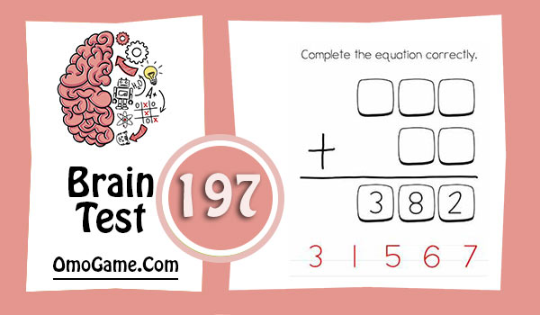 Brain Test Level 197 Complete the equation correctly