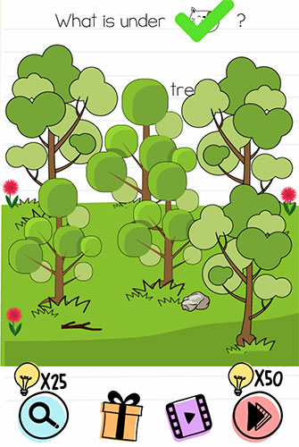 Brain Test Level 200 answer and walkthrough (What is under the tree)