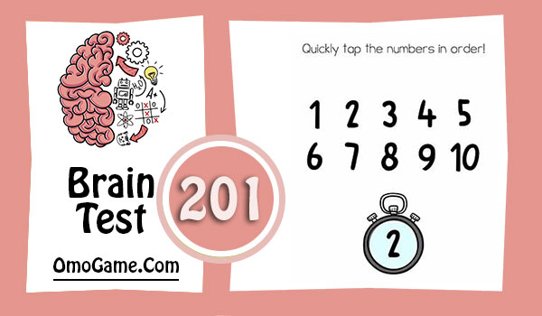 Brain Test Level 201 Quickly tap the numbers in order