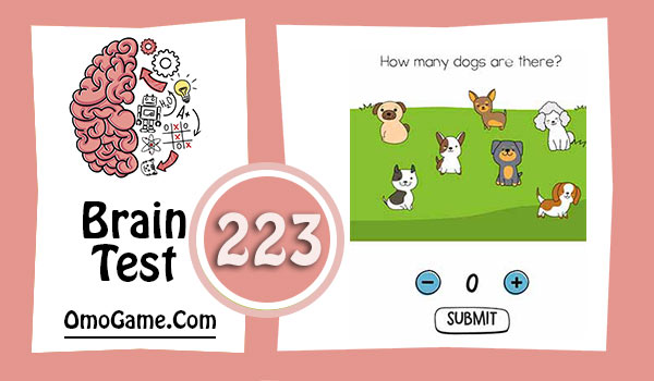 Brain Test Level 223 How many dogs are there