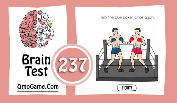 Brain Test Level 237 Help the blue boxer once again