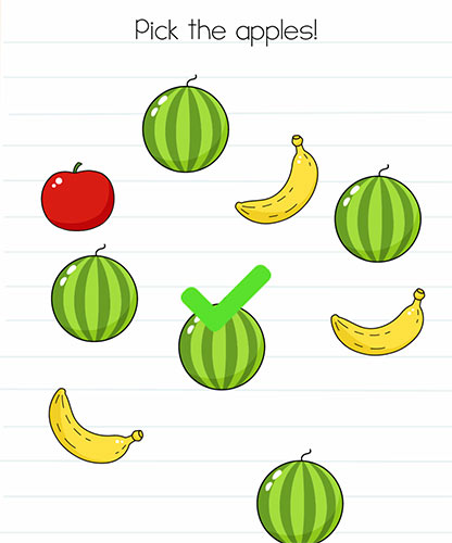 Brain Test Level 241 answer and walkthrough (Pick the apples)