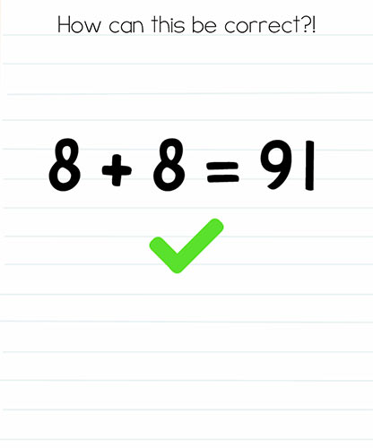 Brain Test Level 246 answer and walkthrough (How can this be correct)