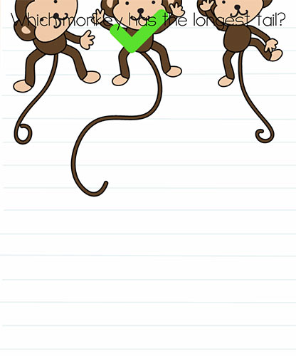 Brain Test Level 247 answer and walkthrough (Which monkey has the longest tail)
