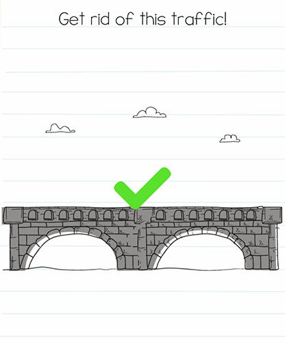 Brain Test Level 253 answer and walkthrough (Get rid of this traffic)