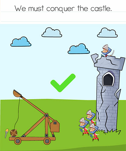 Brain Test Level 267 answer and walkthrough (We must conquer the castle)
