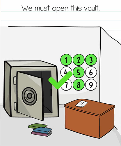 Brain Test Level 272 answer and walkthrough (We must open this vault)