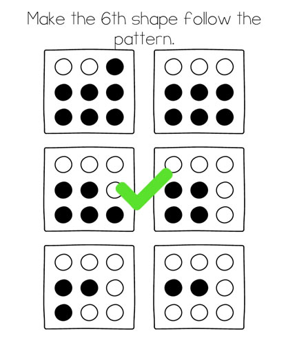 Brain Test Level 286 answer and walkthrough (Make the 6th shape follow the pattern)