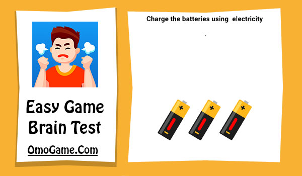 Easy Game Level 100 Charge the batteries using electricity