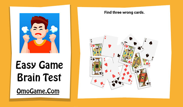 Easy Game Level 77 Find three wrong cards