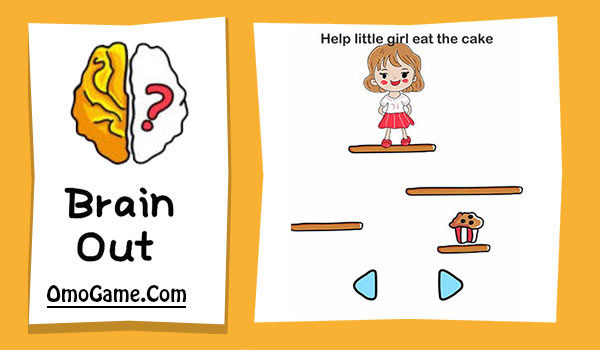 Brain Out Level 91 Help little girl eat the cake