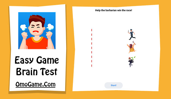 Easy Game Level 118 Help the barbarian win the race