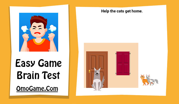 Easy Game Level 49 Help the cats get home