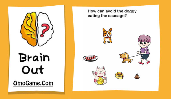 Brain Out Level 161 How can avoid the doggy eating the sausage