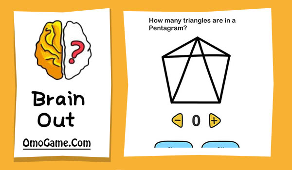 Brain Out Level 6 How many triangles are in a pentagram