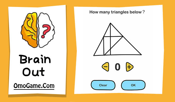 Brain Out Level 164 How many triangles below