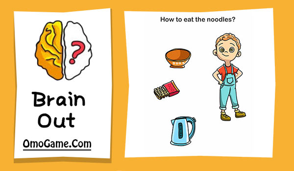 Brain Out Level 94 How to eat the noodles