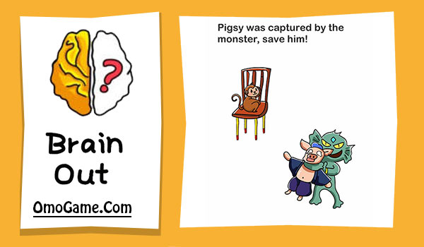 Brain Out Level 143 Pigsy was captured by the monster save him
