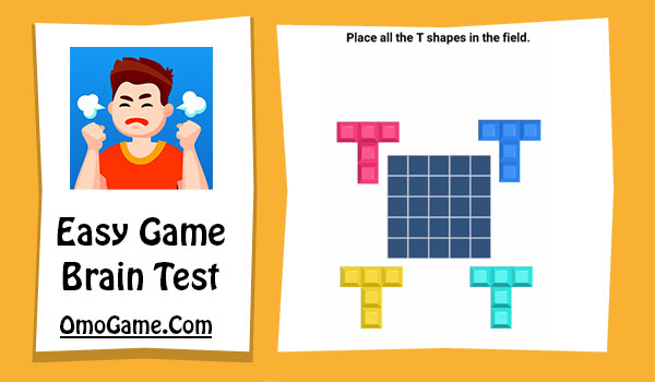Easy Game Level 112 Place all the T shapes in the field