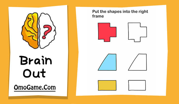 Brain Out Level 80 Put the shapes into the right frame