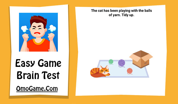 Easy Game Level 55 The cat has been playing with balls of yarn. Tidy up