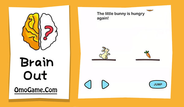 Brain Out Level 123 The little bunny is hungry again