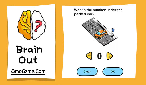 Brain Out Level 8 What's the number under the parked car