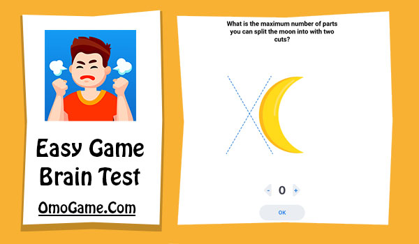 Easy Game Level 42 What is the maximum number of parts you can split the moon into with two cuts