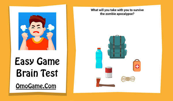 Easy Game Level 12 What will you take with you to survive the zombie apocalypse