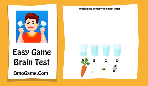 Easy Game Level 9 Which glass contains the most water