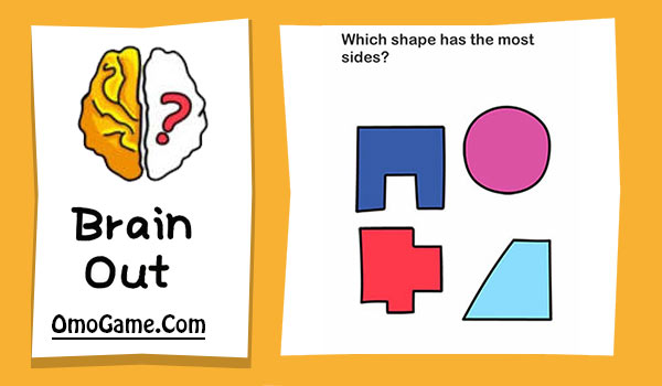 Brain Out Level 54 Which shape has the most sides