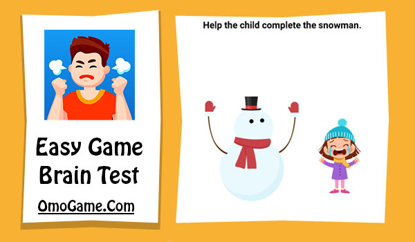 Easy Game Level 132 Help the child complete the snowman
