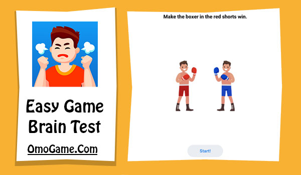 Easy Game Level 214 Make the boxer in the red shorts win
