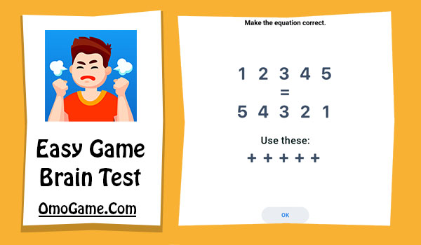 Easy Game Level 176 Make the equation correct 12345