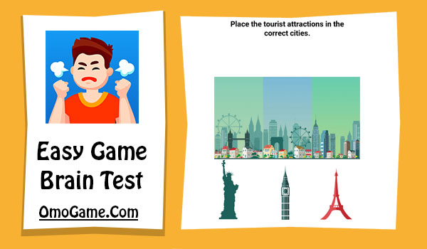 Easy Game Level 228 Place the tourist attractions in the correct cities